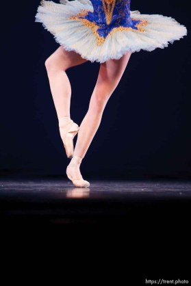 Salt Lake City - Ballet West soloist Peggy Dolkas performs in a dress rehearsal at the Capitol Theatre.
