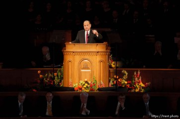 thomas s. monson. LDS General Conference, and re-dedication of the historic tabernacle building after a renovation.