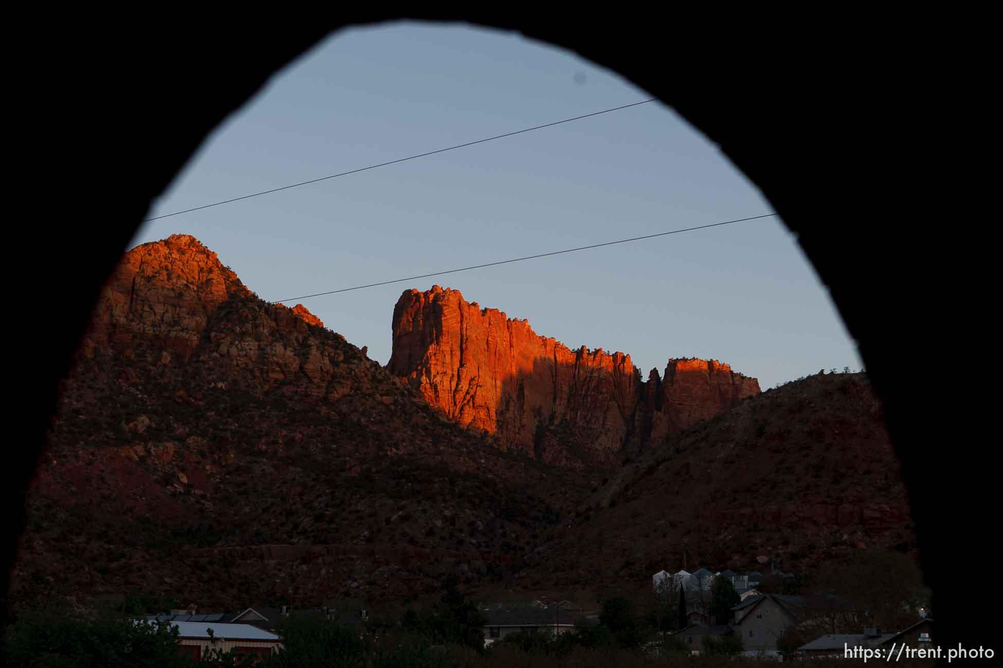 sunrise on el capitan, vermillion cliffs