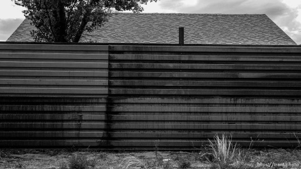 home and wall in the polygamous town of colorado city