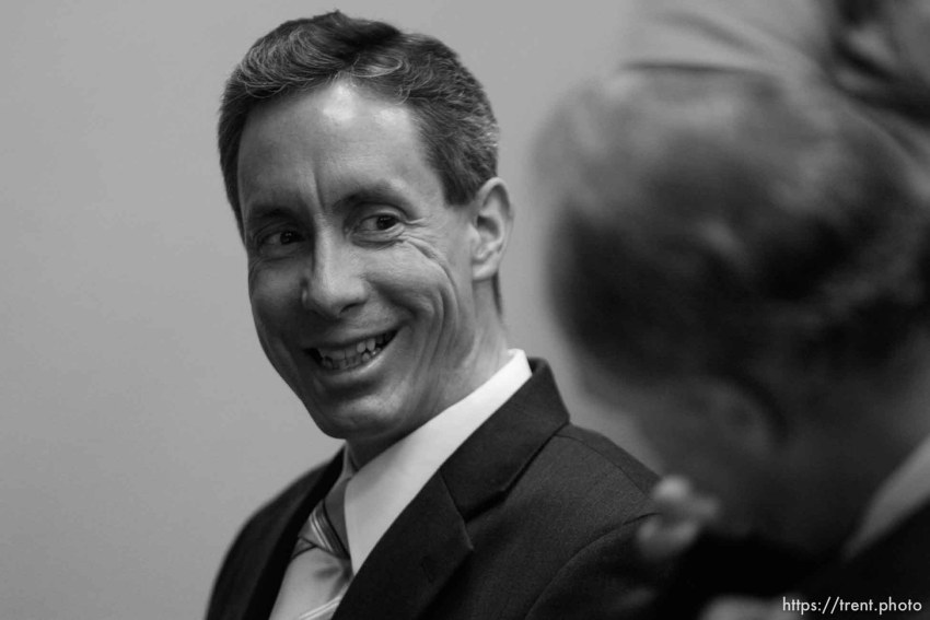 The Warren Jeffs' trial in St. George, Utah. Jeffs, head of the Fundamentalist Church of Jesus Christ of Latter Day Saints, is charged with two counts of rape as an accomplice for allegedly coercing the marriage and rape of a 14-year-old follower to her 19-year-old cousin in 2001.. defense attorney Richard Wright