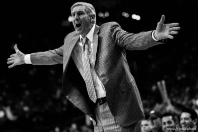 Utah Jazz head coach Jerry Sloan