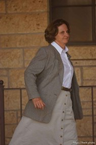 Eldorado - at the Schleicher County Courthouse Tuesday, July 22, 2008, where a grand jury met to hear evidence of possible crimes involving FLDS church members from the YFZ ranch. judge barbara walther