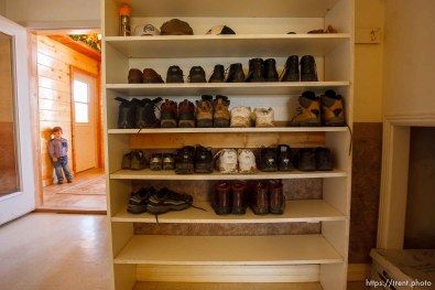 Westcliffe - FLDS shoe rack. Monday, July 28, 2008.
