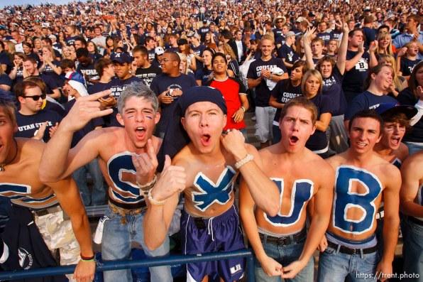 Logan - BYU vs. Utah State University (USU) college football Friday, October 3, 2008. fans
