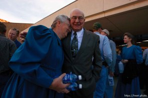 St. George - FLDS members outside the courthouse. A hearing at the 5th district courthouse Friday November 14, 2008 on the proposed sale of UEP trust land including Berry Knoll, a site the FLDS say has religious value, was continued after the attorney general's office stepped in and pressured both sides to seek a settlement. Dan Barlow