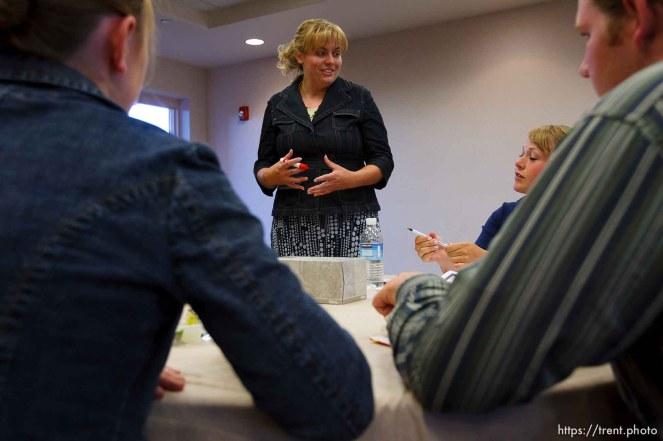 Centennial Park -at a meeting of Voice Box, Tuesday August 11, 2009. Mary Hammon (teach), Ali Knudson