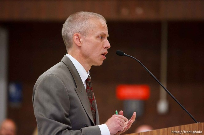 Trent Nelson | The Salt Lake Tribune Draper - Commutation hearing for death-row inmate Ronnie Lee Gardner Thursday, June 10, 2010, at the Utah State Prison. Utah Assistant Attorney General Tom Brunker