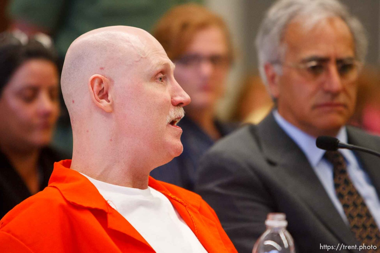Trent Nelson | The Salt Lake Tribune Draper - Commutation hearing for death-row inmate Ronnie Lee Gardner Thursday, June 10, 2010, at the Utah State Prison. Andrew Parnes at right