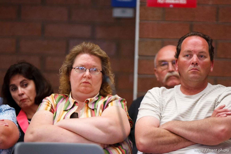 Trent Nelson | The Salt Lake Tribune Draper - Commutation hearing for death-row inmate Ronnie Lee Gardner Thursday, June 10, 2010, at the Utah State Prison. Kathy Potter, Craig Watson (rear)