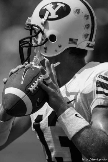Trent Nelson   The Salt Lake Tribune BYU quarterback Riley Nelson (13) , BYU vs. Florida State, college football Saturday, September 18, 2010 at Doak Campbell Stadium in Tallahassee, Florida.
