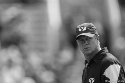 Trent Nelson | The Salt Lake Tribune BYU coach Bronco Mendenhall during pre-game, BYU vs. Florida State, college football Saturday, September 18, 2010 at Doak Campbell Stadium in Tallahassee, Florida.
