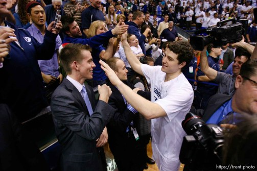 Trent Nelson | The Salt Lake Tribune BYU's Jimmer Fredette as BYU hosts Wyoming, college basketball in Provo, Utah, Saturday, March 5, 2011.