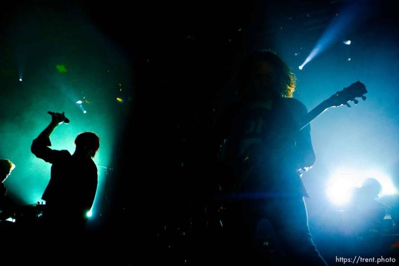 Trent Nelson | The Salt Lake Tribune Gerard Way, Ray Toro, My Chemical Romance at In The Venue in Salt Lake City, Utah, Friday, April 8, 2011.