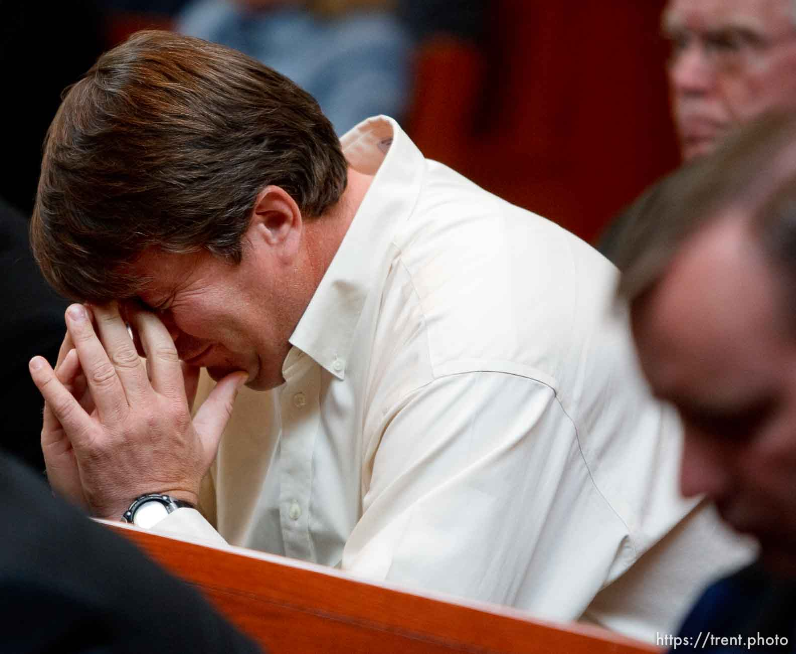 Trent Nelson | The Salt Lake Tribune Willie Jessop listens as the Utah Supreme Court heard arguments in Salt Lake City, Utah, Tuesday, April 12, 2011, on cases involving the FLDS Church's United Effort Plan (UEP) land trust.