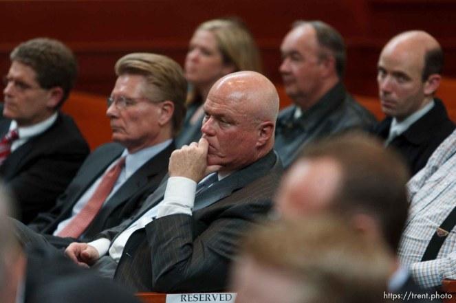 Trent Nelson | The Salt Lake Tribune Fiduciary Bruce Wisan listens as the Utah Supreme Court heard arguments in Salt Lake City, Utah, Tuesday, April 12, 2011, on cases involving the FLDS Church's United Effort Plan (UEP) land trust.