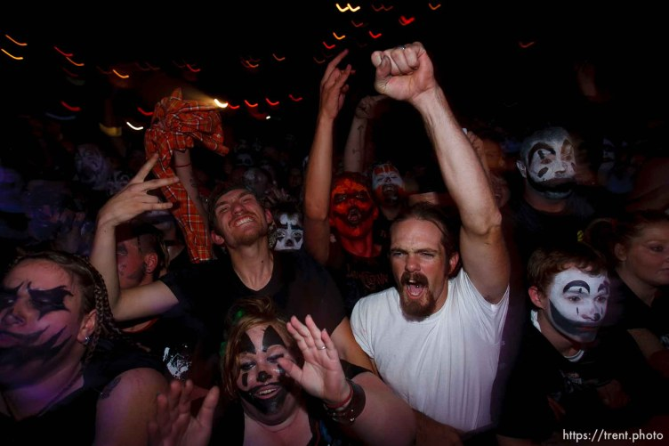 Trent Nelson | The Salt Lake Tribune Insane Clown Posse performs at The Great Salt Air (Saltair) Thursday, October 1 2009 west of Salt Lake City. juggalos