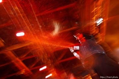 Trent Nelson | The Salt Lake Tribune Insane Clown Posse performs at The Great Salt Air (Saltair) Thursday, October 1 2009 west of Salt Lake City. violent j
