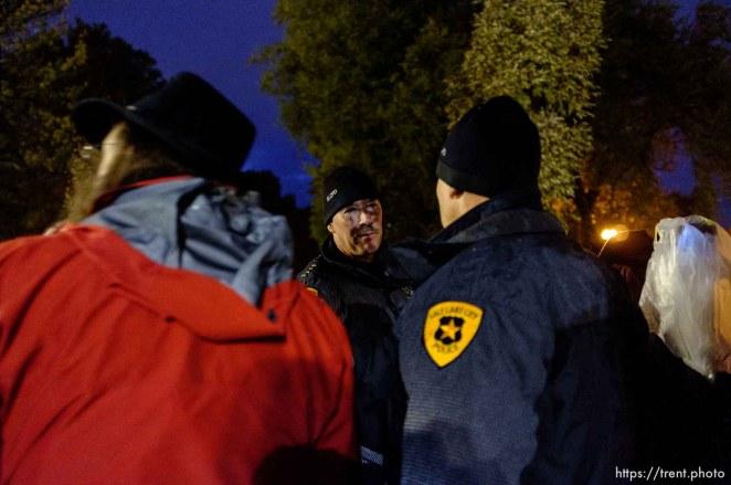 Trent Nelson | The Salt Lake Tribune Police chief Chris Burbank as Salt Lake City police cleared the Occupy Salt Lake tent city from Pioneer Park in Salt Lake City, Utah, Saturday, November 12, 2011.