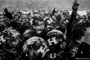 Trent Nelson | The Salt Lake Tribune Hurricane defeated Desert Hills 21-0 in the 3A State Championship high school football game at Rice-Eccles Stadium in Salt Lake City, Utah, Friday, November 18, 2011.
