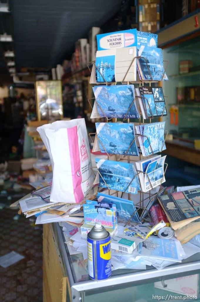 vincent drug store, abandoned. Thursday, June 14, 2012 in Midvale, Utah. scenic utah postcards