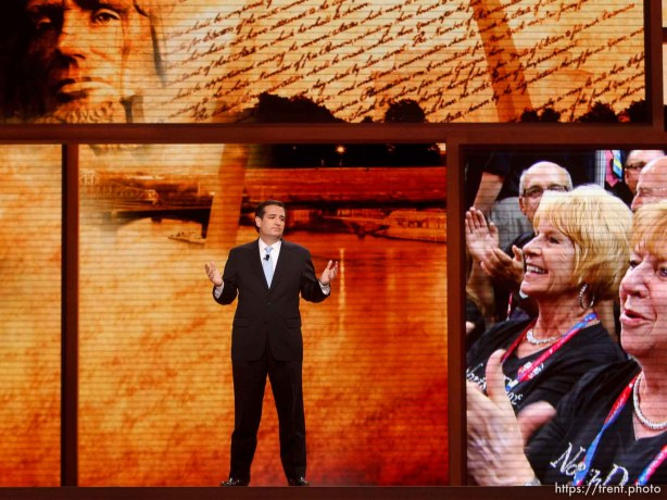 Trent Nelson | The Salt Lake Tribune Ted Cruz speaks on the first day of the Republican National Convention in Tampa, Florida, Tuesday, August 28, 2012.
