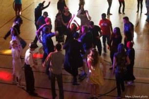 Trent Nelson | The Salt Lake Tribune Youth dancing at the Salt Lake University Institute of Religion, Friday November 16, 2012 in Salt Lake City.