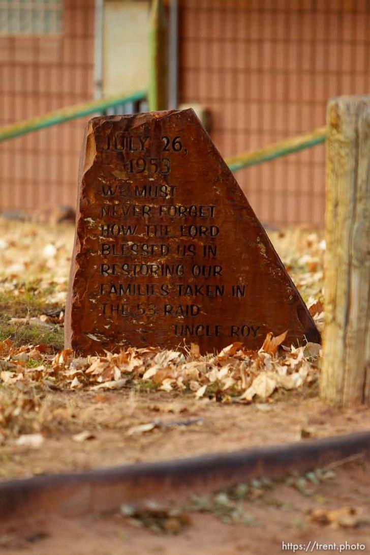 raid commemoration marker, Thursday November 29, 2012.