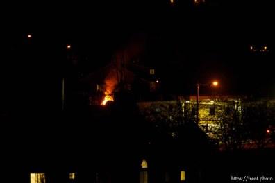 fires burning in town at night, Thursday November 29, 2012.