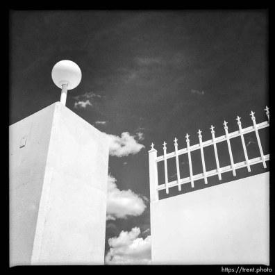 wall, gate around warren jeffs compound
