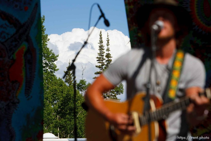 Trent Nelson | The Salt Lake Tribune Luke Benson performs at the Roots of the Rocks music festival at the Eagle Point Ski Resort Saturday, June 15, 2013 east of Beaver.