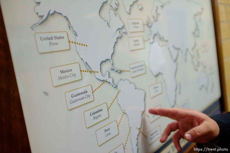 Trent Nelson | The Salt Lake Tribune A map of the world lists church missions worldwide, Tuesday June 18, 2013 at the Missionary Training Center of the Church of Jesus Christ of Latter-day Saints in Provo.