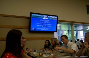 Trent Nelson   The Salt Lake Tribune A video screen offers information in the cafeteria of the Missionary Training Center of the Church of Jesus Christ of Latter-day Saints in Provo Tuesday June 18, 2013.
