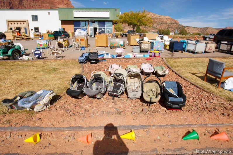 Trent Nelson | The Salt Lake Tribune baby items for sale in Hildale Tuesday, October 8, 2013.