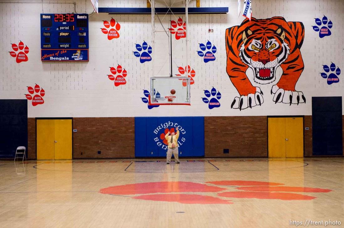 Trent Nelson | The Salt Lake Tribune as Brighton hosts Davis High School, boys basketball in Sandy, Wednesday December 4, 2013.
