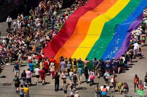 Trent Nelson | The Salt Lake Tribune Pride parade, Sunday June 8, 2014.