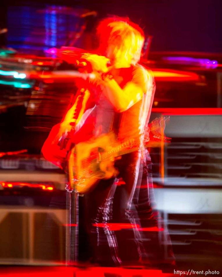 Trent Nelson | The Salt Lake Tribune Keith Urban performs at USANA Amphitheatre, Saturday August 30, 2014.