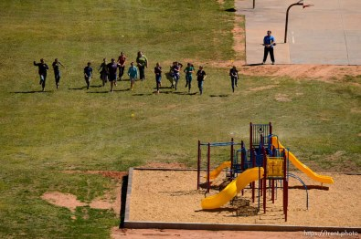 Trent Nelson | The Salt Lake Tribune physical education at school, in Hildale, Thursday September 25, 2014.