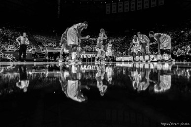 Trent Nelson | The Salt Lake Tribune Utah Utes forward Jakob Poeltl (42) shoots a free throw as the University of Utah Utes host the Alabama State Hornets, college basketball at the Huntsman Center in Salt Lake City, Saturday November 29, 2014.