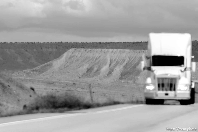 truck. driving from green river to price, Monday May 25, 2015.