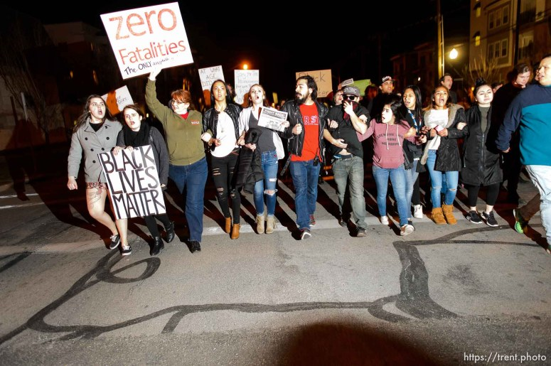 Trent Nelson   The Salt Lake Tribune Protesters will gather at the Wallace Bennett Federal Building and march to the Public Safety Building to protest the police shooting of 17-year-old Abdi Mohamed on Saturday night, Monday February 29, 2016.