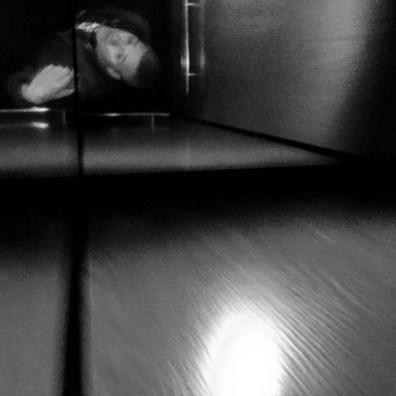 trent in elevator, Thursday January 19, 2017.