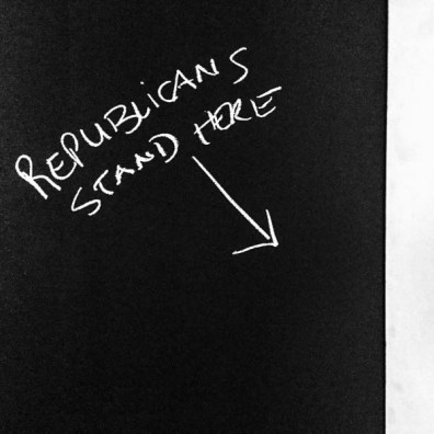 republicans stand here, main street, Park City, Friday January 20, 2017.