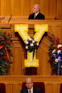 (Trent Nelson | The Salt Lake Tribune) at funeral services for Elder Robert D. Hales at the Salt Lake Tabernacle in Salt Lake City Friday October 6, 2017.