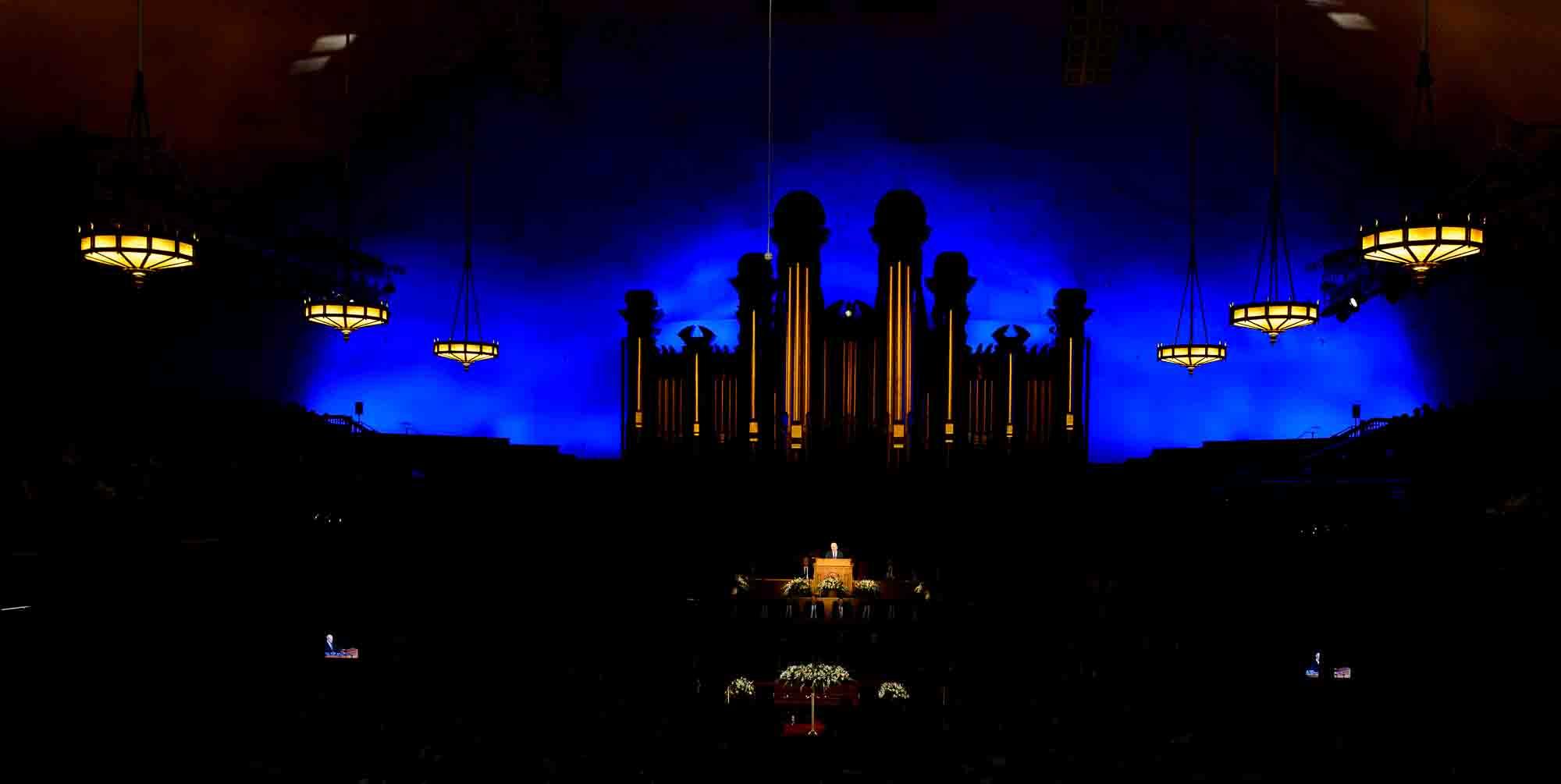 (Trent Nelson | The Salt Lake Tribune) President Russell M. Nelson speaks at funeral services for Elder Robert D. Hales at the Salt Lake Tabernacle in Salt Lake City Friday October 6, 2017.