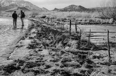 Utah Governer Jon Hunstman, Jr., tours flood-ravaged areas in Southern Utah.