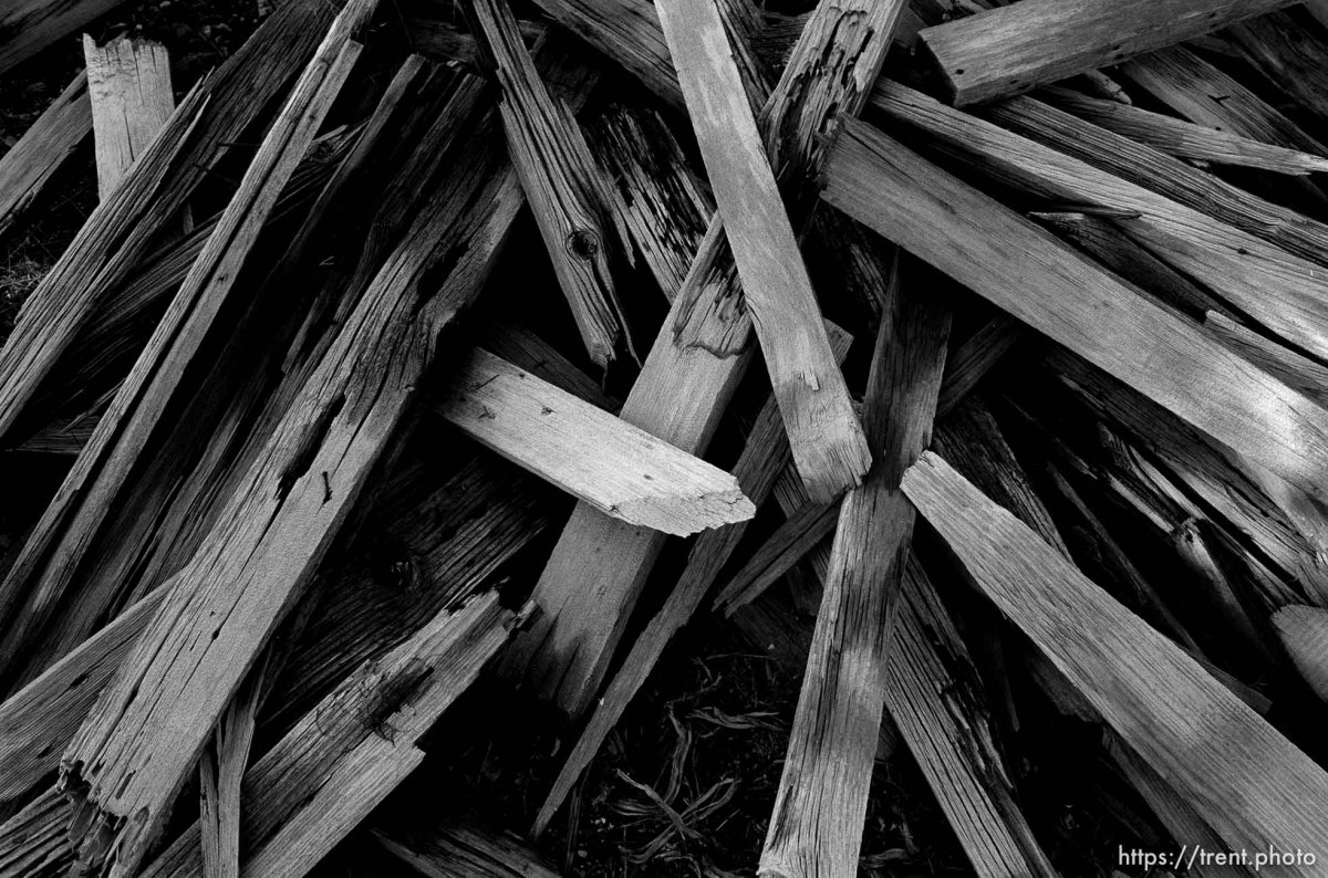 Wood from graves at the Mercur cemetery.