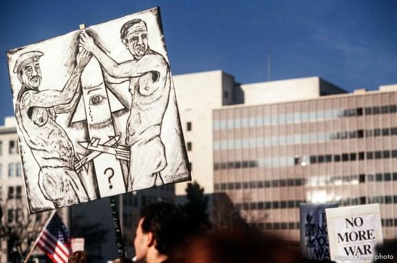 Anti-war Gulf War protest.