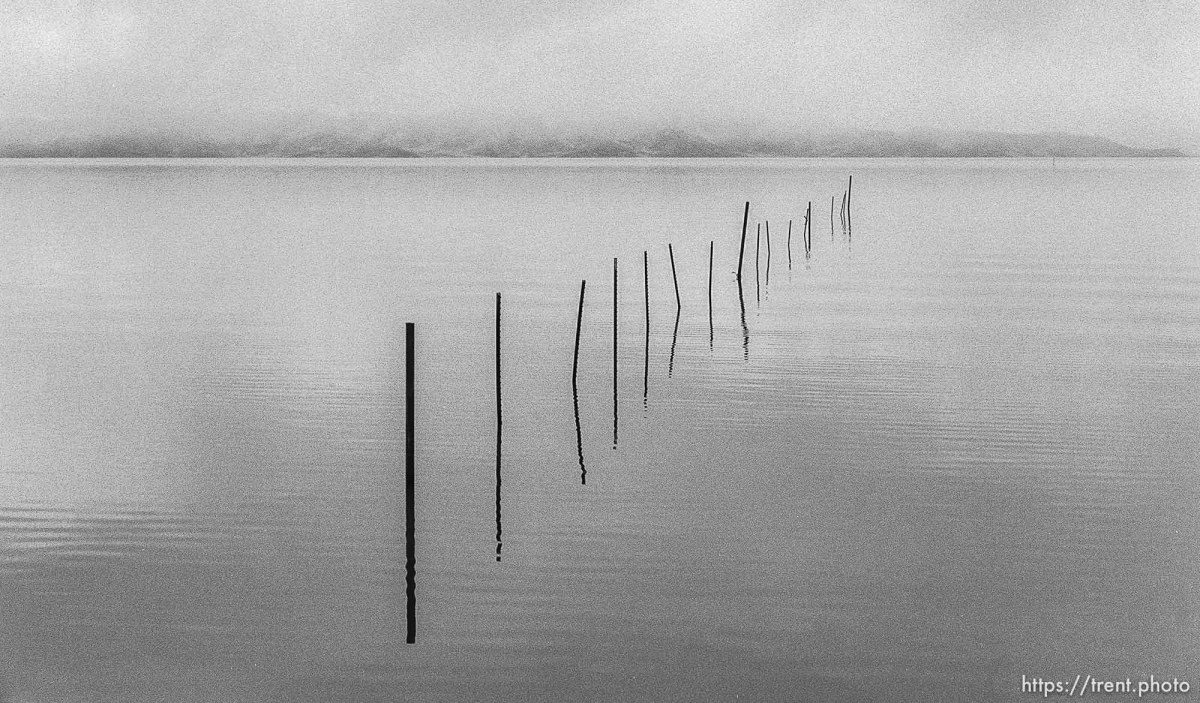Fence in the Great Salt Lake