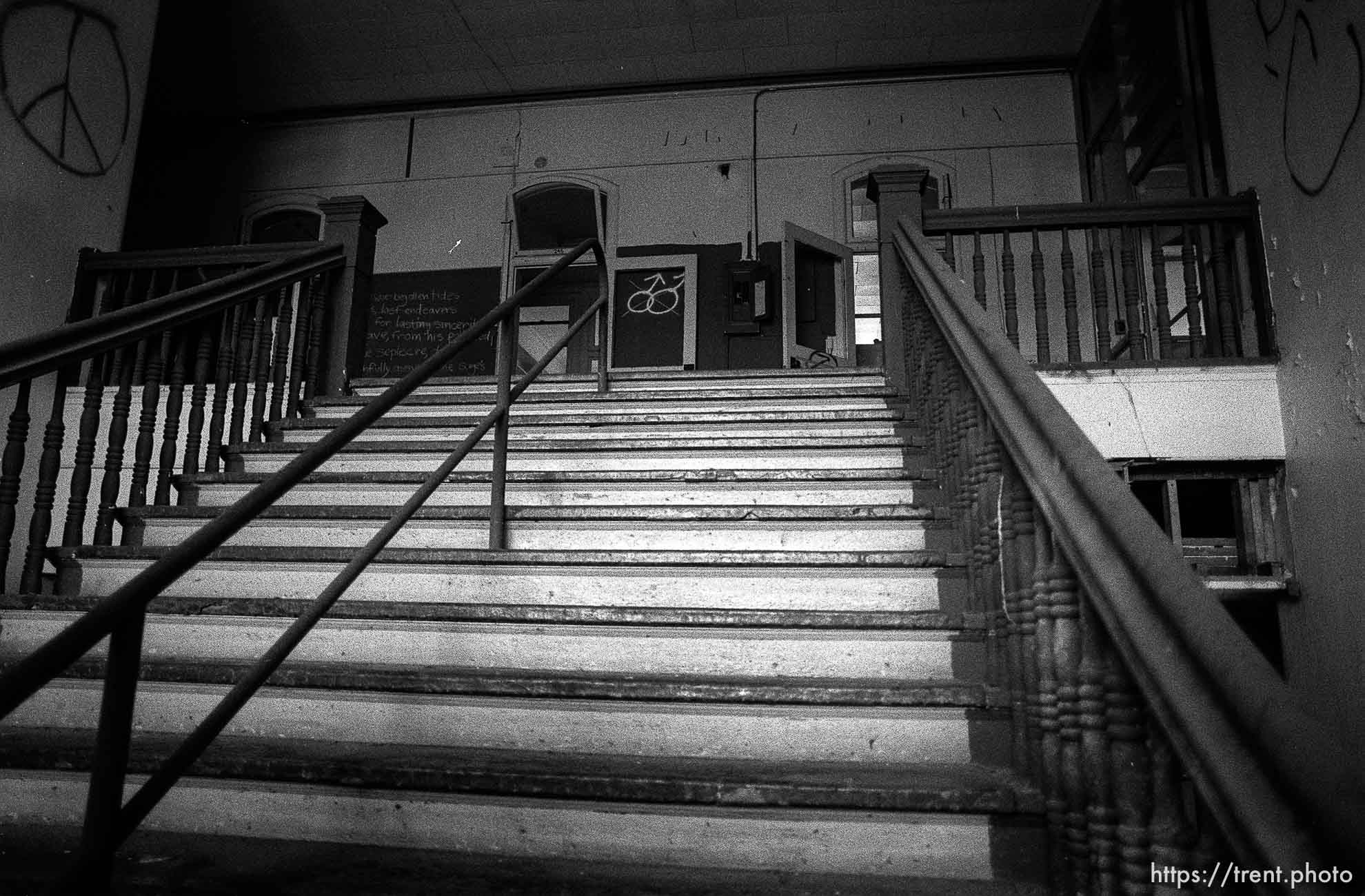Stairway in the old Academy Building.
